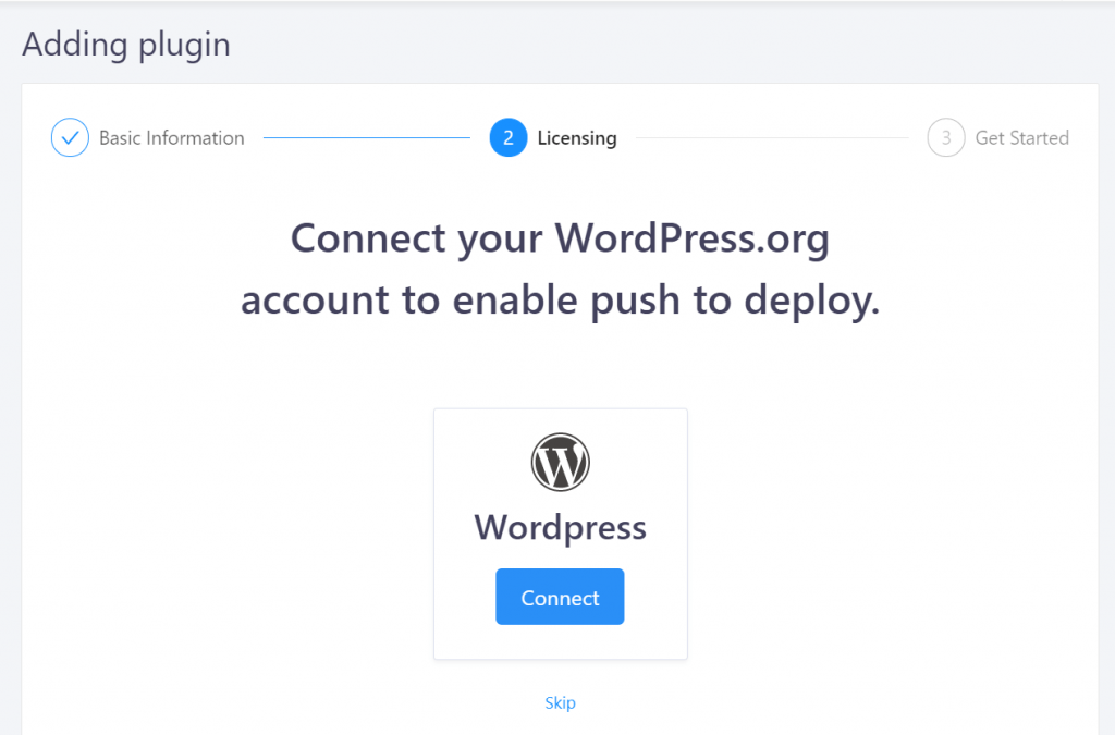 Connect your WordPress.org account