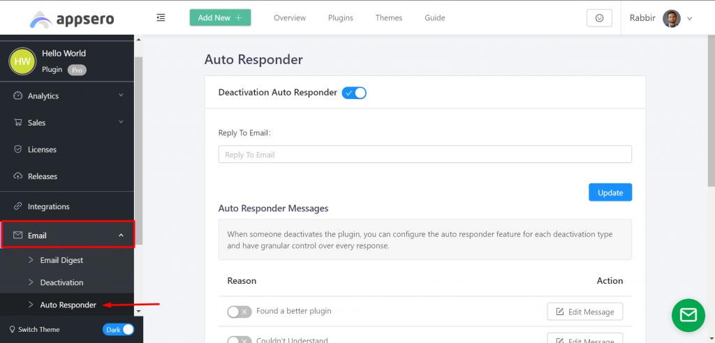Navigation Auto responder