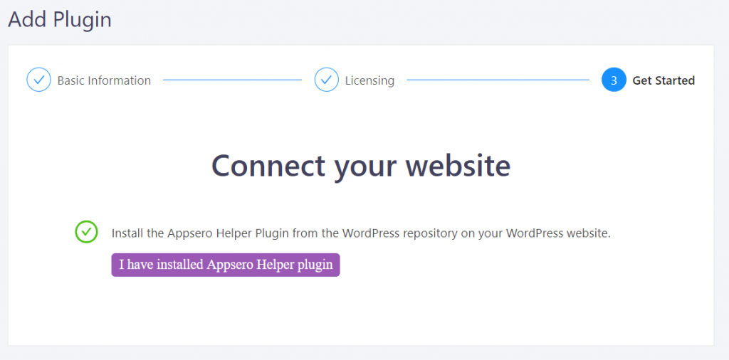 Appsero helper plugin