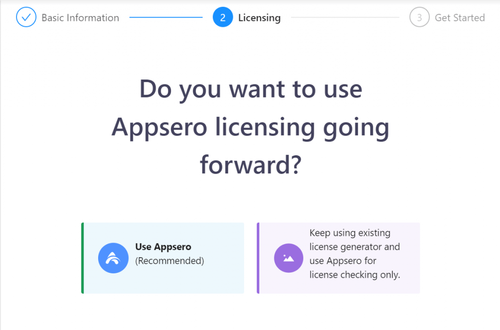 Using Appseo licensing going forward