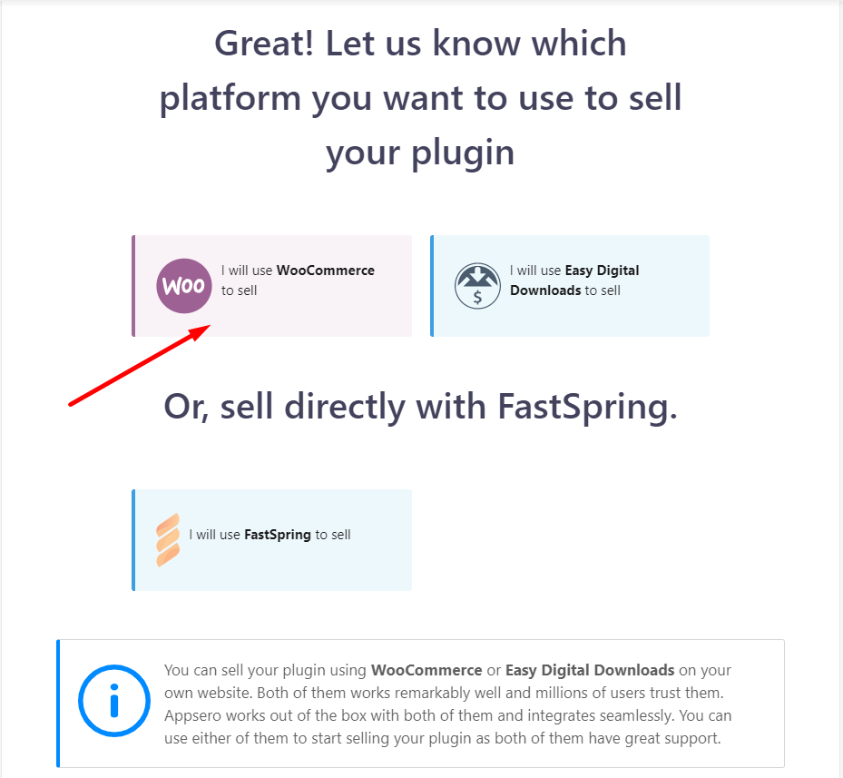 WooCommerce as your selling platform