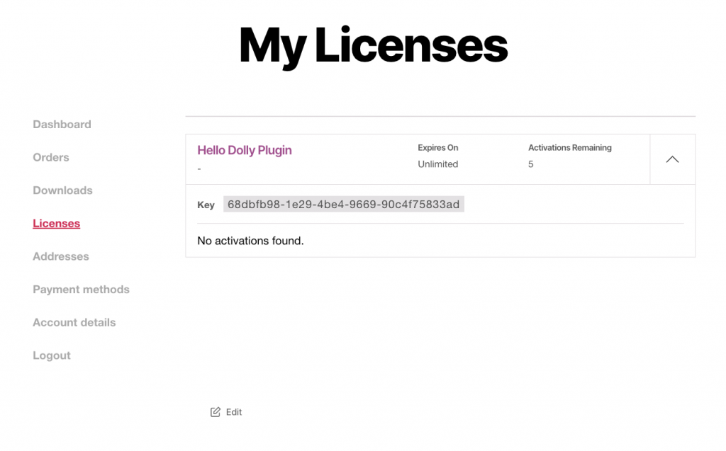 WooCommerce_My-account-licenses