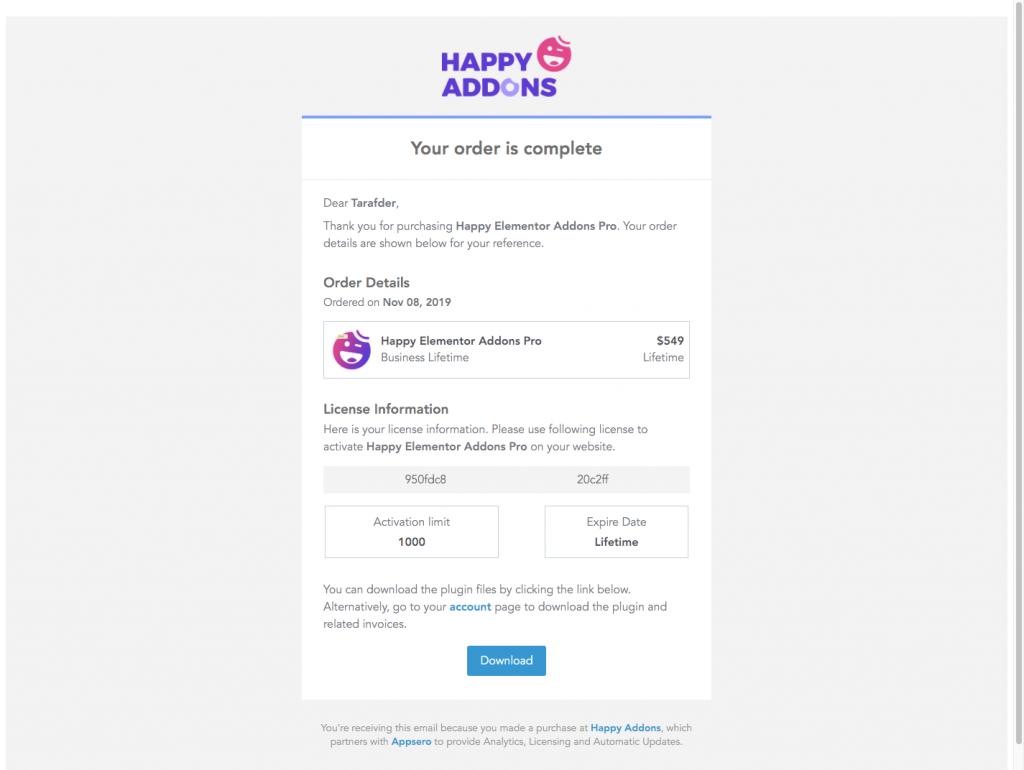Email Branding Appsero