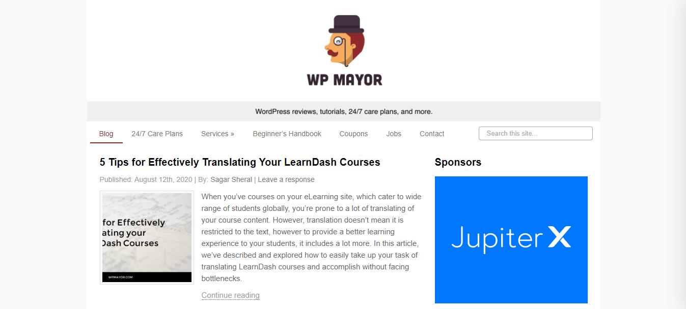 WP Mayor is another popular WordPress