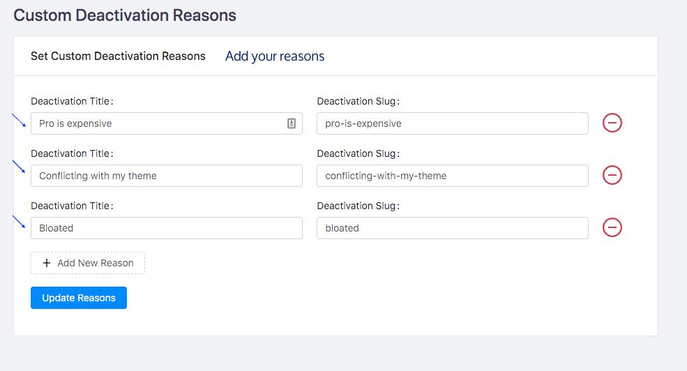 Adding Custom Deactivation Reasons 1