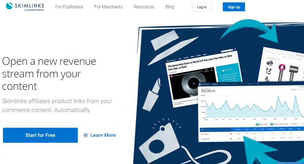 Use Skimlinks to Monetize the Website