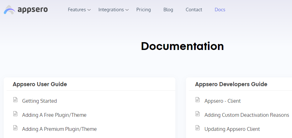 appsero documentation for WordPress users