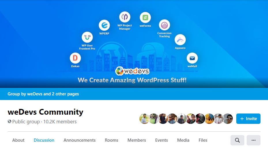 Social Media Community for building-selling wordpress plugin