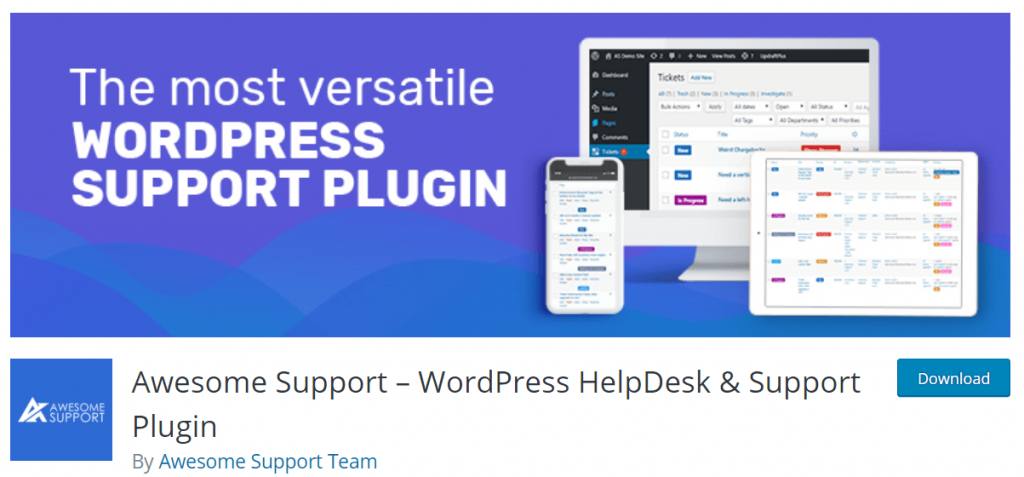 Awesome support plugin