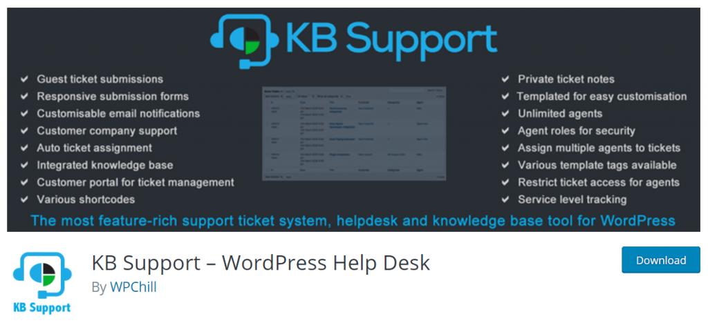KB Support- wordpress helpdesk plugin