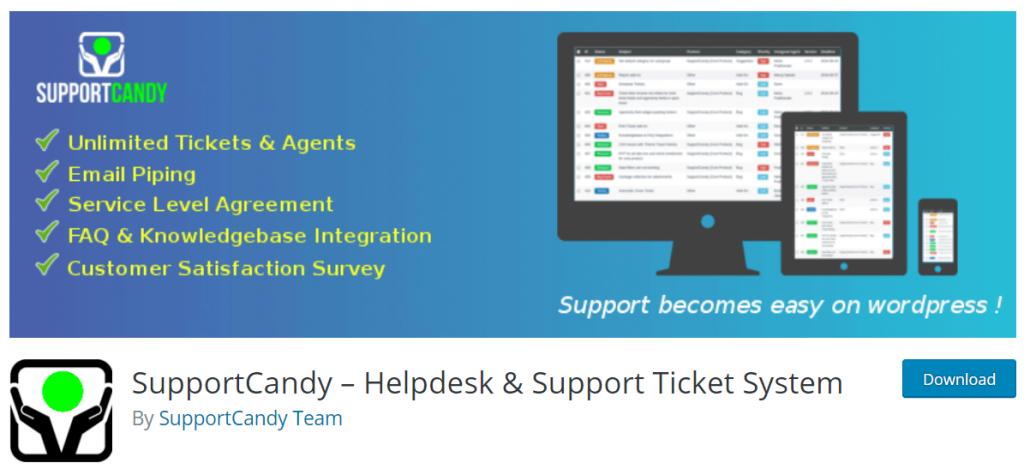Support candy helpdesk plugin