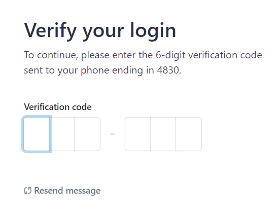 verify your login