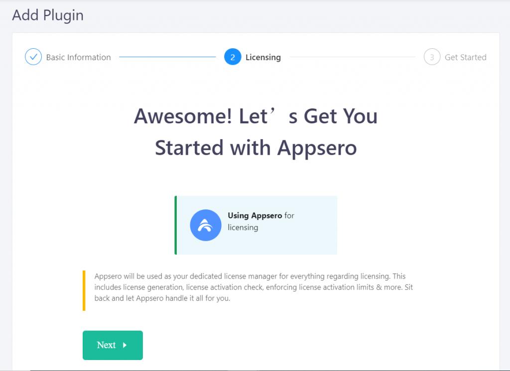Using Appsero for Licensing