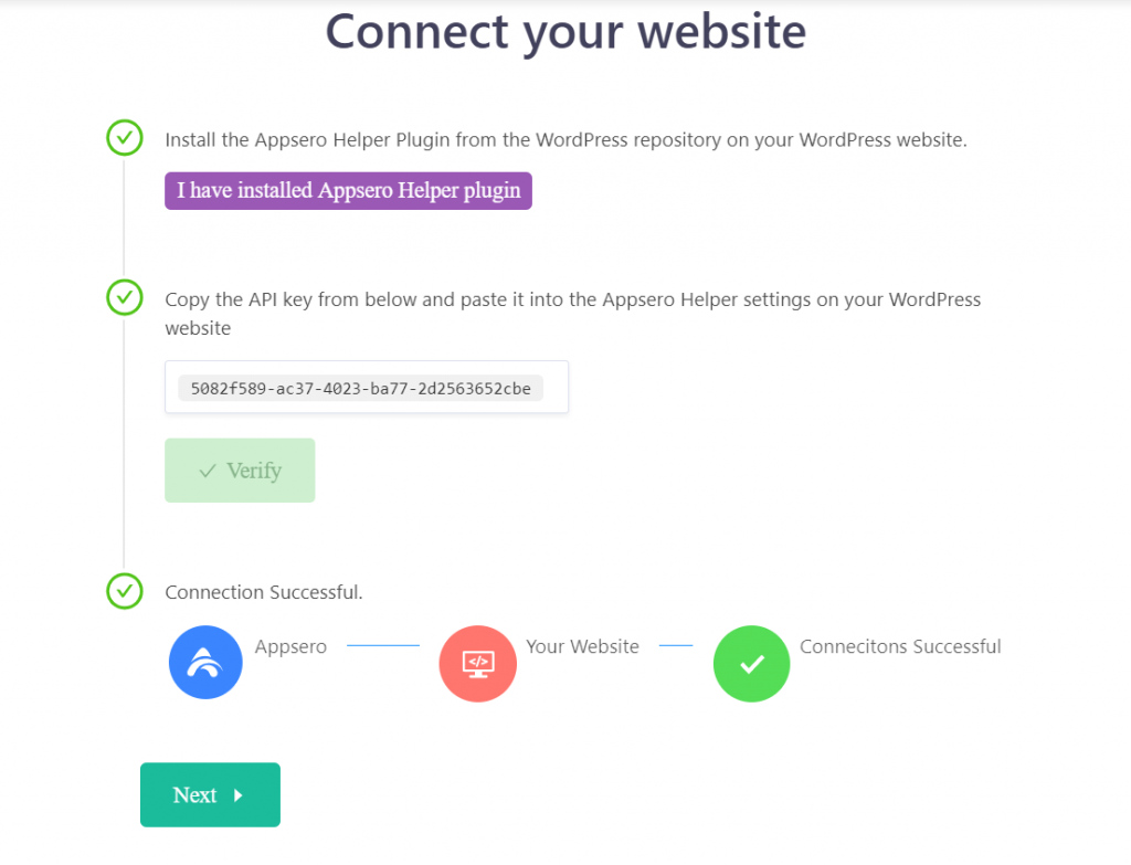 click on Verify button