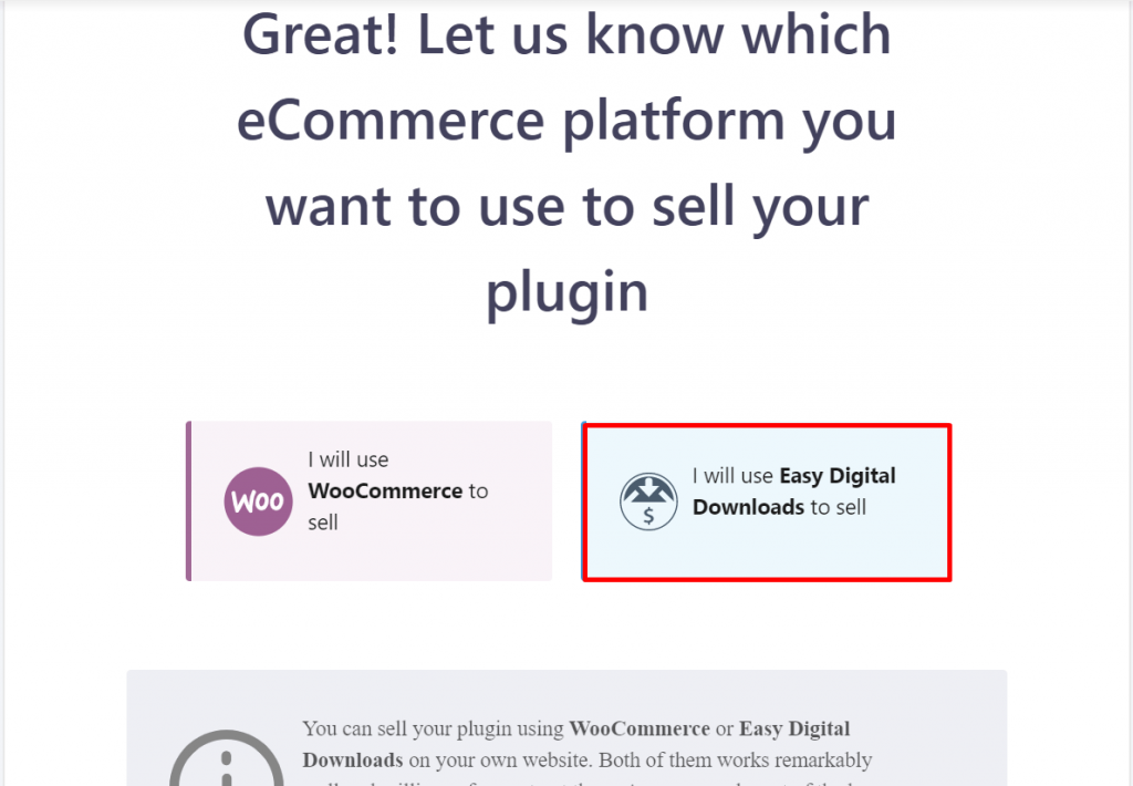 I will Use Easy Digital Downloads to sell.