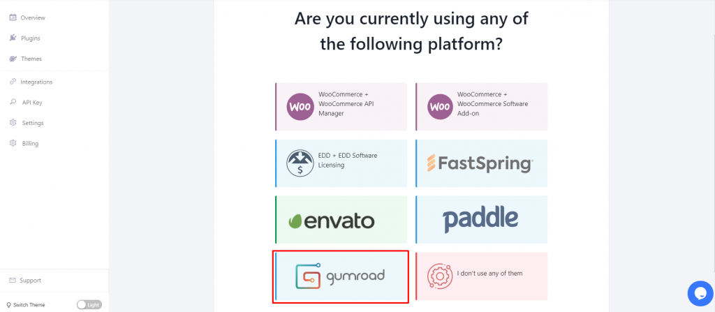 gumroad integration with Appsero